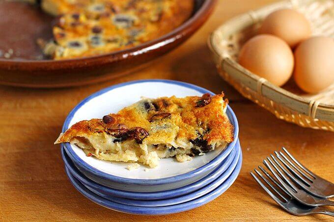 Cherry and Pistachio Clafoutis ~ #TheRecipeReDux ~ Lydia's Flexitarian Kitchen