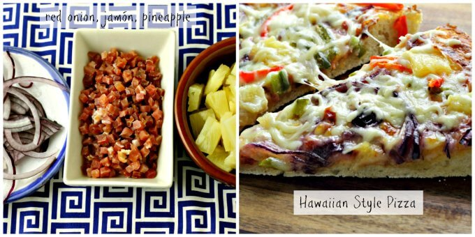 Pizza Fantasy Night ~ Hawaiian Style Pizza ~ Lydia's Flexitarian Kitchen
