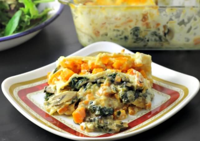 Butternut Squash and Spinach Lasagna For Two