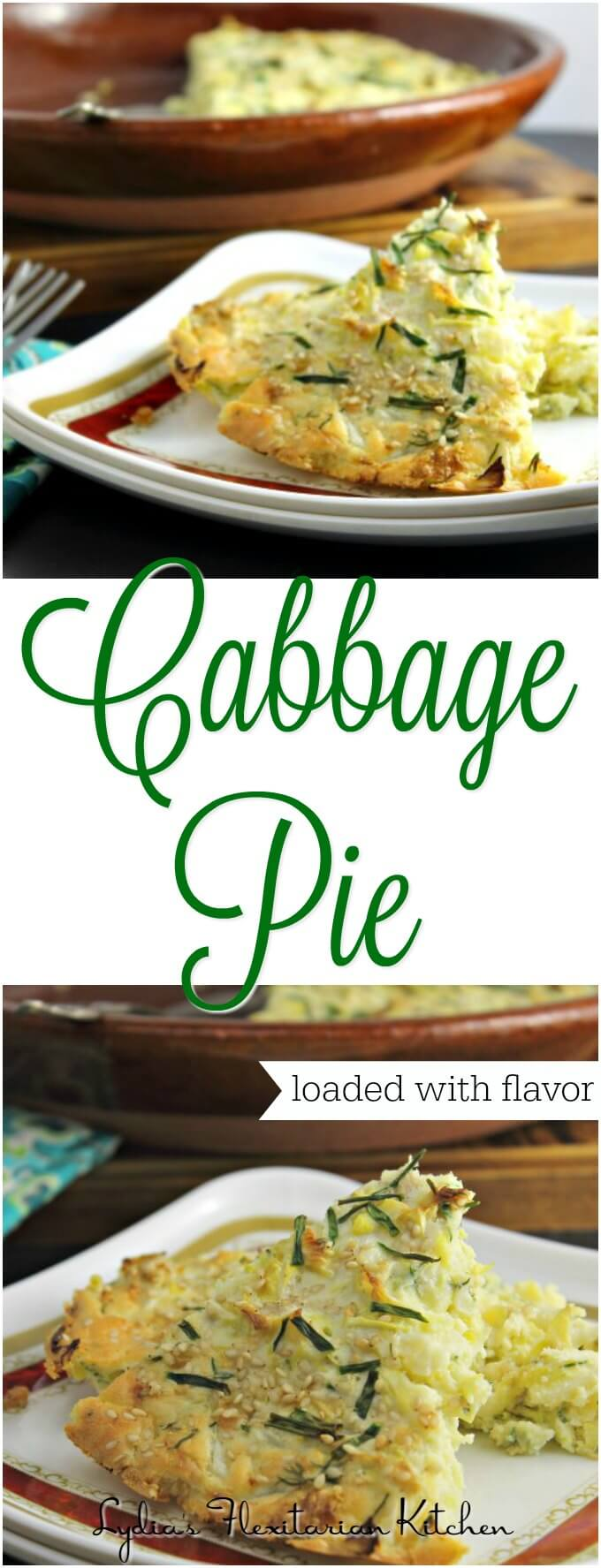 Cabbage Pie ~ #FoodOfTheWorld Russia ~ Lydia's Flexitarian Kitchen