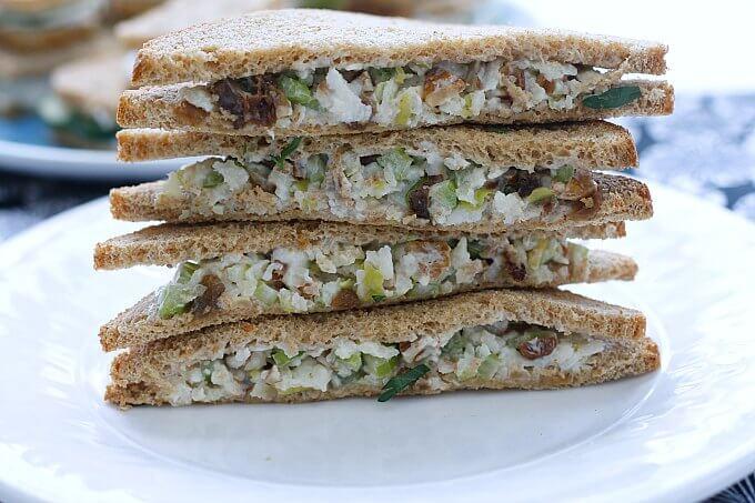 Tea Sandwiches al Fresco ~ Two Light and Fresh Choices ~ #TheRecipeReDux ~ Lydia's Flexitarian Kitchen