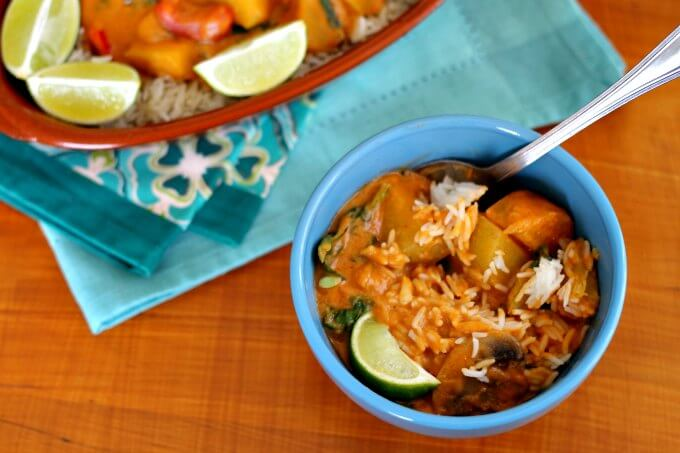 Senegalese Inspired Veggie and Peanut Stew ~ Food of the World ~ Lydia's Flexitarian Kitchen