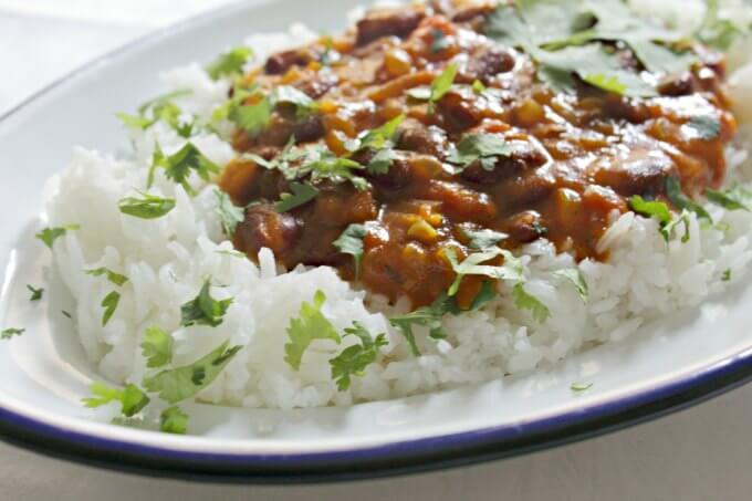 Red Bean Curry ~ Vegan ~ Lydia's Flexitarian Kitchen