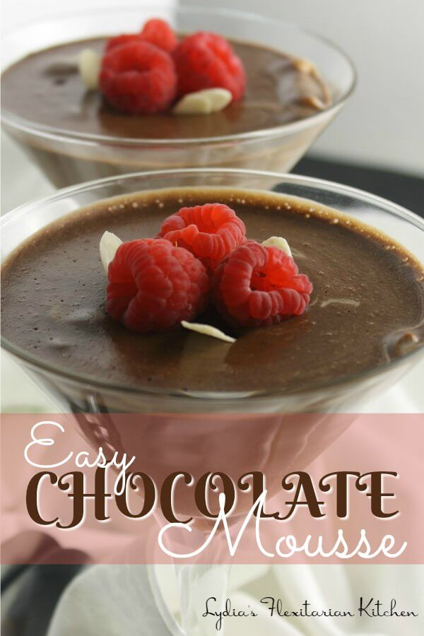 Super Easy Chocolate Mousse ~ If you can whip cream, you can make this mousse ~ Lydia's Flexitarian Kitchen