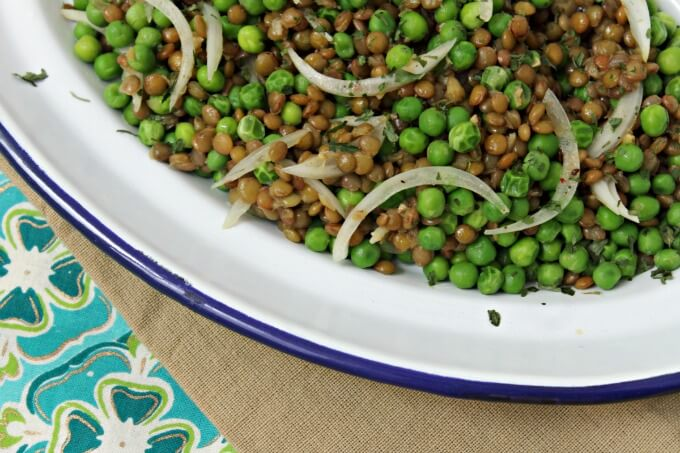 Nigel Slater's Pea and Lentil Salad~ A Study in Taste and Texture ~ Lydia's Flexitarian Kitchen