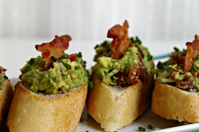 Avocado and Bacon Toasts