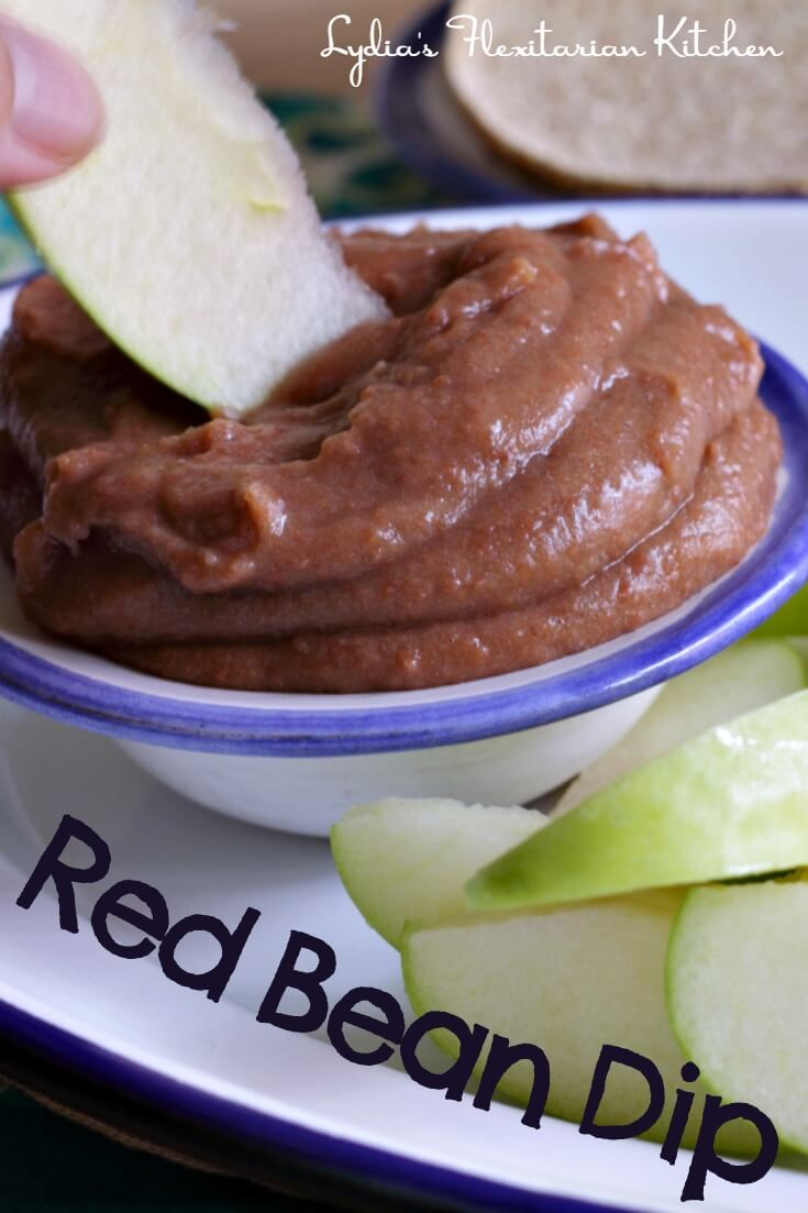 Red Bean Dip ~ Try it with fruit or spread on bread ~ Lydia's Flexitarian Kitchen