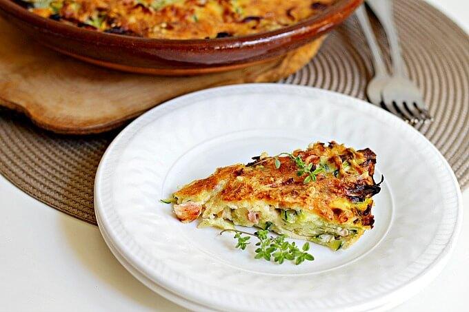 Zucchini & Egg Pie ~ Lydia's Flexitarian Kitchen