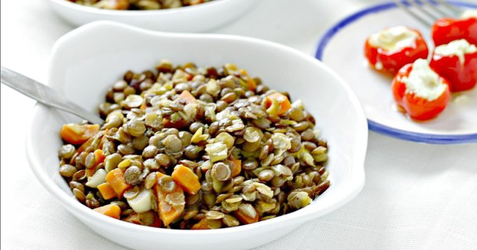Bistro Style Lentils ~ Jeffrey's Favorite ~ Lydia's Flexitarian Kitchen