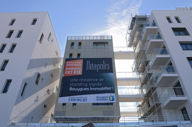 Immeuble en construction dans le Quartier Borderouge a Toulouse