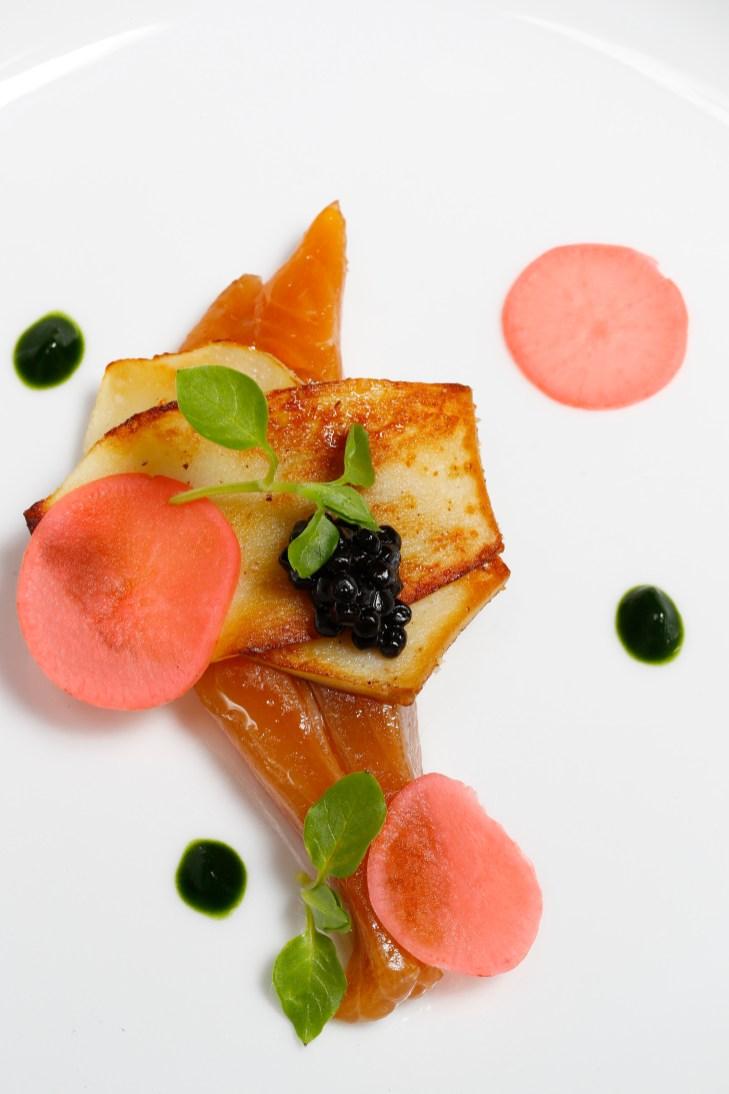 Plat d' Aziz Mokhtari, chef du restaurant Les P'tits Fayots à Toulouse.