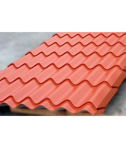L mina tipo teja de acero aceroteja para techados color for Laminas de plastico para paredes