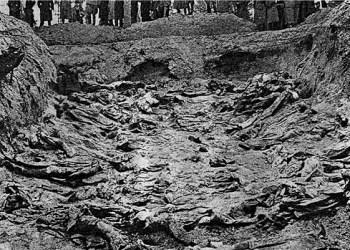 Tusenvis av lærere, leger, politimenn, offiserer og sivile ble drept i Katyn-skogen. Massemordet ble føst skyldt på Nazi-Tyskland, men i ettertid har Russland innrømmet at Sovjetregimet sto bak forbrytelsen. (Foto: Wikipedia).