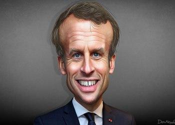 Emmanuel Macron - Caricature/DonkeyHotey/Attribution 2.0 Generic (CC BY 2.0)Wikimedia Commons
