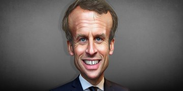 Emmanuel Macron - Caricature/DonkeyHotey/Attribution 2.0 Generic (CC BY 2.0)Wikimedia Commons