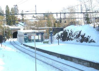 (Foto: Billingstad holdeplass ved Drammenbanen/Jan-Tore Egge/Wikipedia/Creative Commons).
