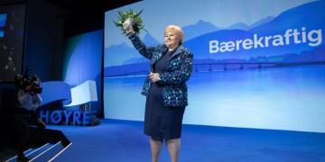 Erna Solberg - Statsminister og Høyres leders åpningstale under Høyres landsmøte 2018. (Foto: Hans Kristian Thorbjørnsen (CC BY-NC 4.0))