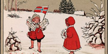 Glædelig Jul, ca 1919 Nasjonalbiblioteket (CC BY 2.0)