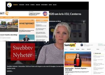 (Skjermbilde: Samnytt.se/Exakt24.se/Swebbtv.se).