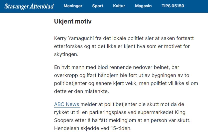 Stavanger Aftenblad / Skjermbilde