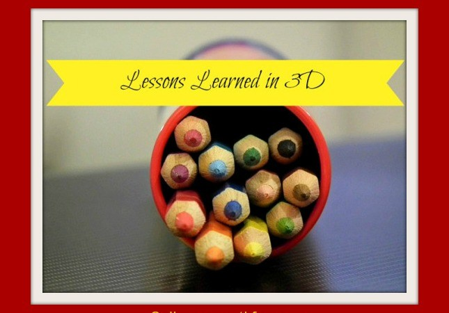 Lessons Learned in 3-D: Less is More