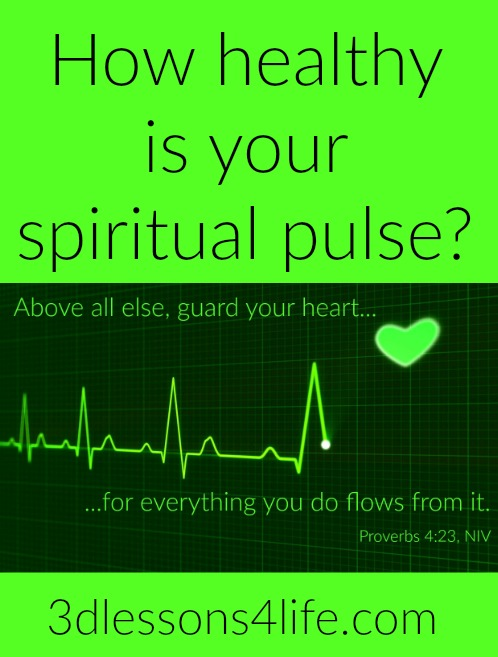 Monitor Your Spiritual Pulse | 3dlessons4life.com