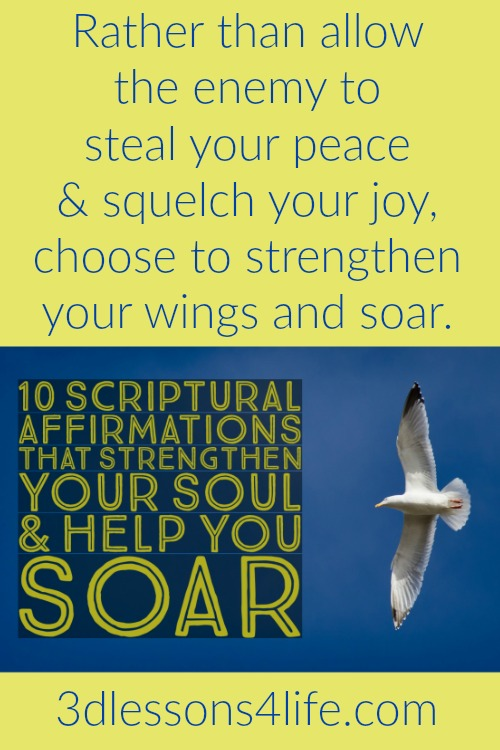 10 Scriptural Affirmations to Help You Soar | 3dlessons4life.com