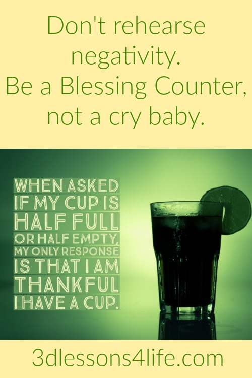 Be a Blessing Counter | 3dlessons4life.com