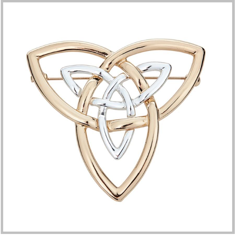 Trinity Knot Brooch Celtic Trinity Knot Pin Trinity Knots