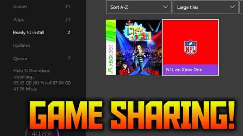 How To Gameshare On Xbox One 2018