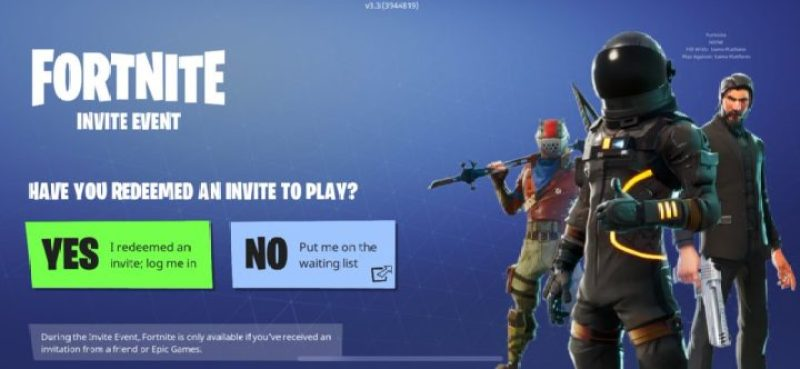 Fortnite Invite Event