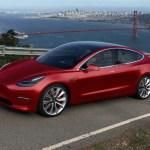 Tesla model 3 in beeld