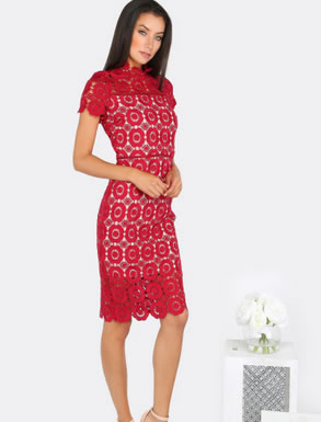 Lace-Red-Dress