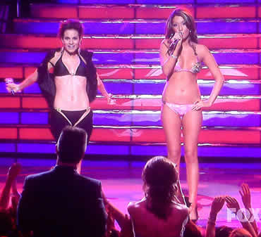 Kara and the bikini girl