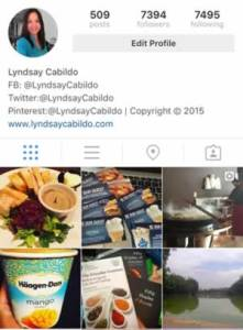 Instagram Lyndsay Cabildo