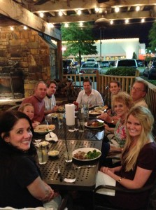 Family dinner on the patio, moments to treasure.