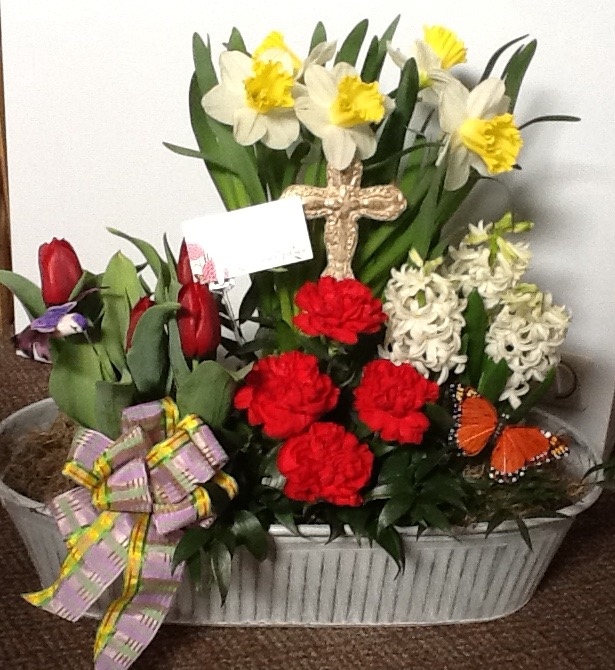 sympathy-flowers-in-container