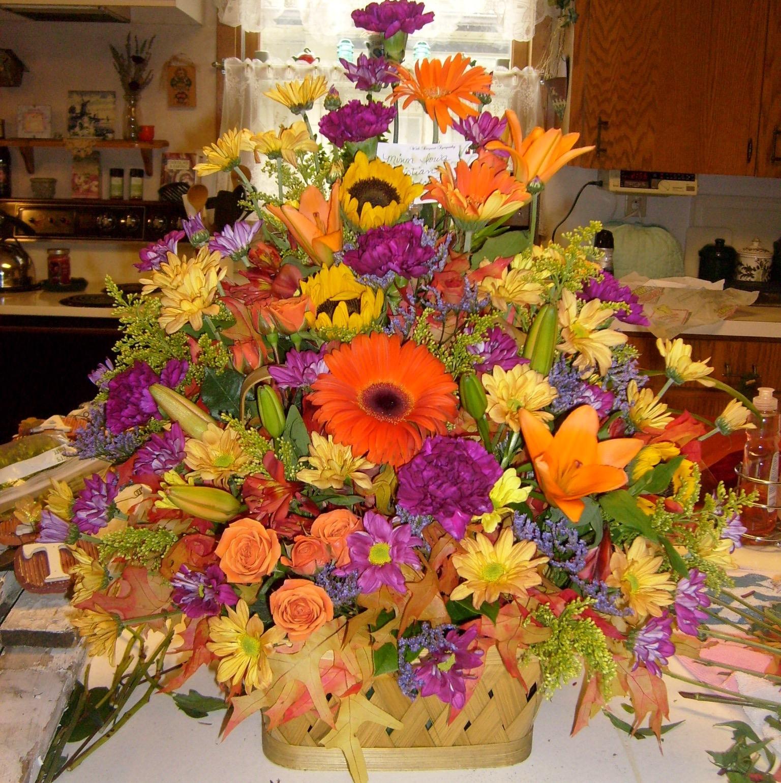 colorful-sympathy-flowers