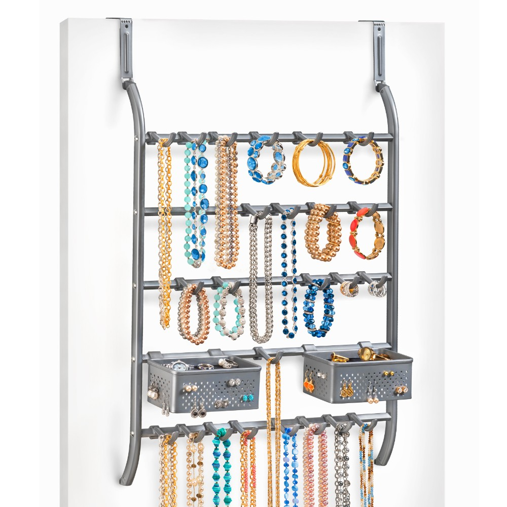 144702 over door or wall mount jewelry organizer