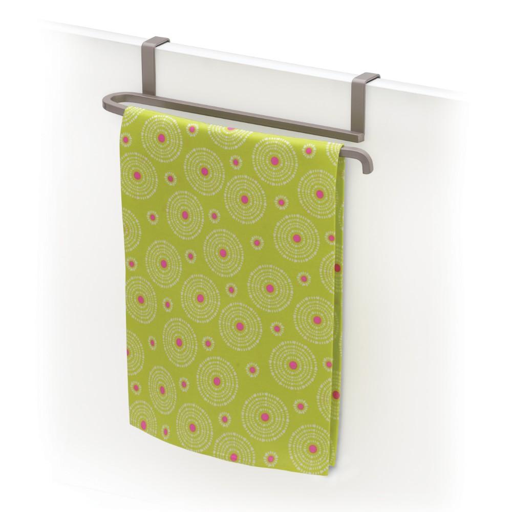 6116006 over cabinet door towel bar satin nickel
