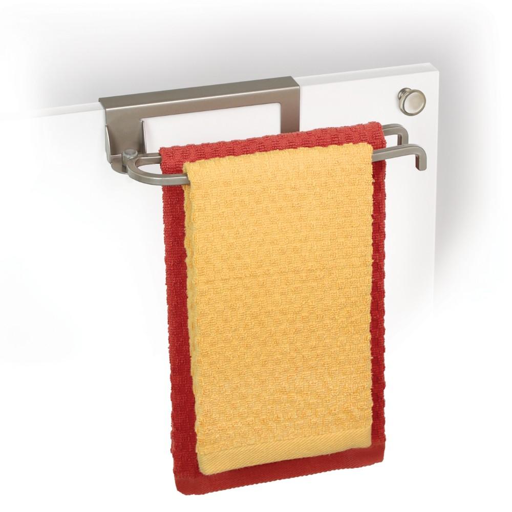 611710 over cabinet door pivoting towel bar satin nickel