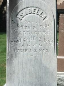 Isabella Gallangher d Sep 12 1868 age 1yr,2mo 2mo (1)