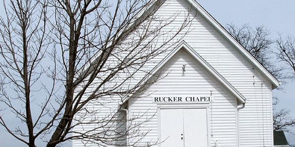 Rucker Chapel Church in rural LeRoy