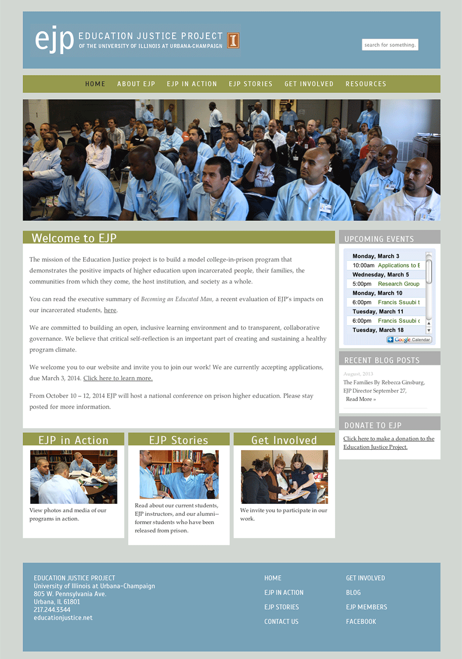 Education Justice Project Home Page