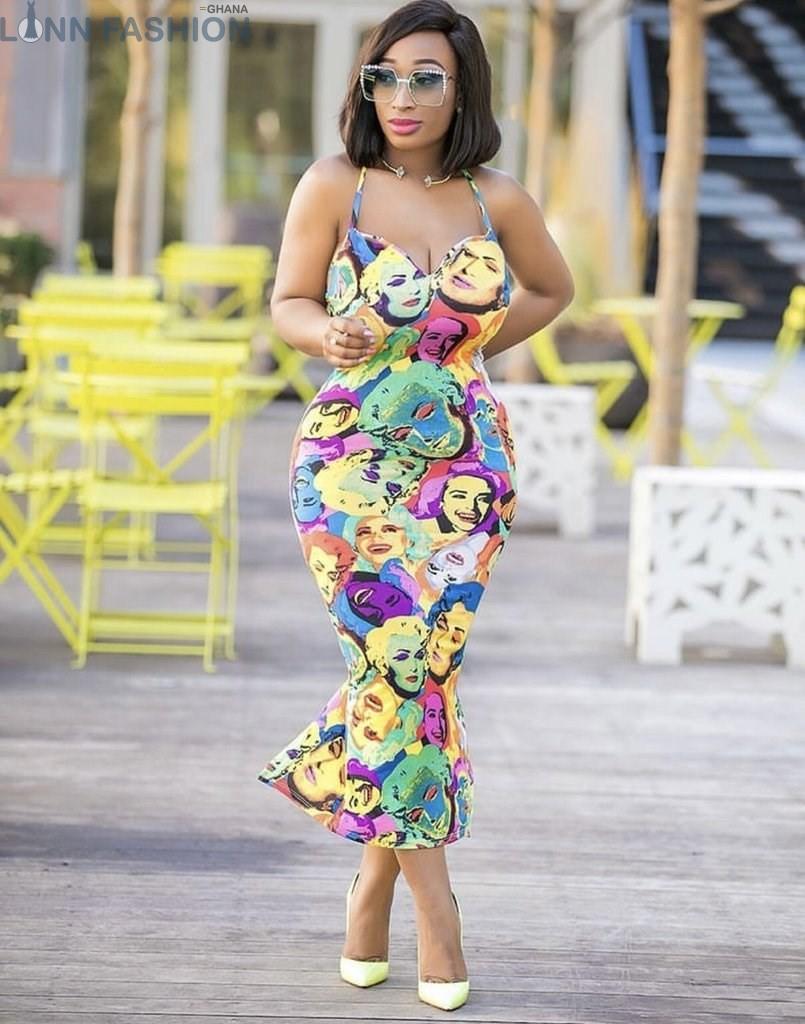 e79c5377f68 2018 Print Casual Maxi Dress Women Back Bandage Halter Club Party Dresses  Summer ...