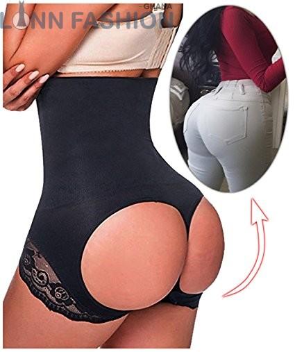 59d0891b252bc Hi-Waist Butt Lifter Tummy Control Boy Shorts Buttock Booty Control ...