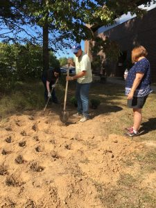 Planting the Recovery and Remembrance Garden Dedication