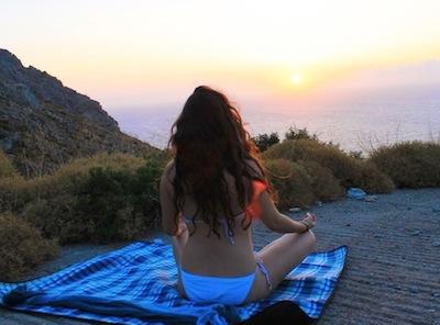 Eleni doing yoga