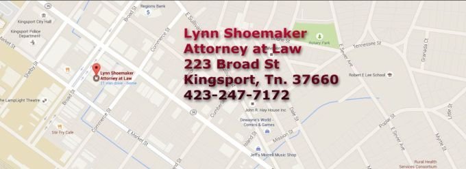 Lynn Shoemaker Attorney map image