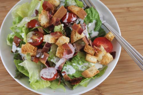 Gluten Free Croutons on Salad
